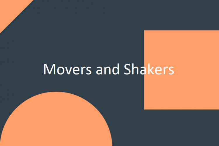 Movers and Shakers August 2019 image